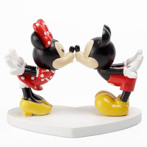 Disney Mickey & Minnie Mouse Kissing Figurine Ornament